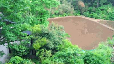 黒川温泉も田植え