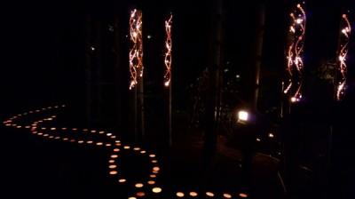 竹灯り、べっちん館下