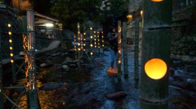 黒川温泉穴湯付近